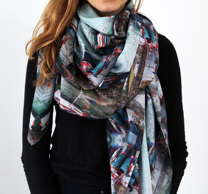 Cornish Harbour Silk Scarf - new in fashion