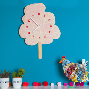 Candy Floss Glow In The Dark Clock - shop by price