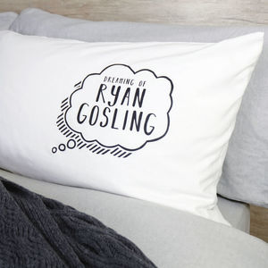 Personalised Dreaming Of… Pillow Case - bed, bath & table linen