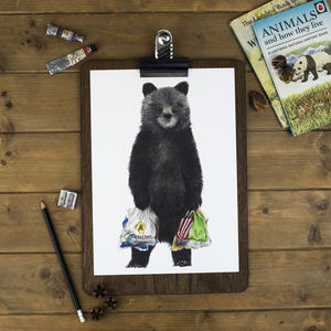 Shopping Bear Print - art-lover