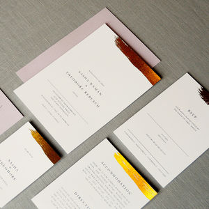 Antoinette Wedding Invitation Set - order of service & programs