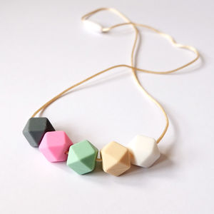 Hexagon Teething Necklace - new in baby & child