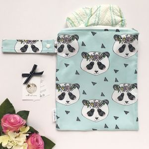 Panda Nappy Changing Bag - baby care