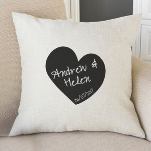 Personalised Cushion Cover Heart Name And Date - view all new