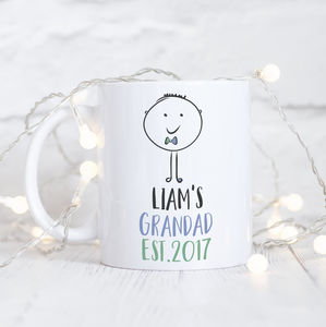 Personalised Grandfather Ceramic Mug - mugs