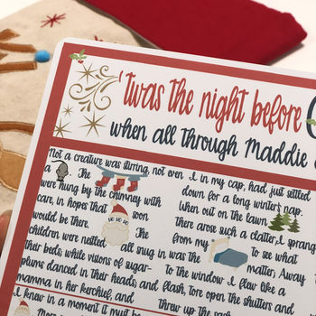 Twas The Night Before Christmas Personalised Story