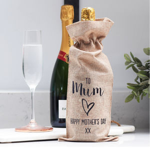 Personalised Mum Wine Champagne Bottle Gift Bag