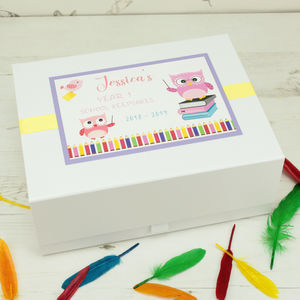 Child's First School Year Keepsake Box - keepsake boxes