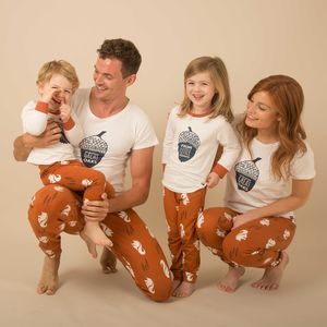 Nuts About You Family Of Four Matching Pyjamas - children's dad & me sets