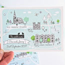 Bespoke Illustrated Map Wedding Invitation
