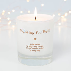 Make A Wish And Get Well Soon Candle
