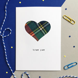 'Braw Paw' Scottish Fathers Day Card