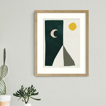 Boho Desert Mountain Wall Art Print