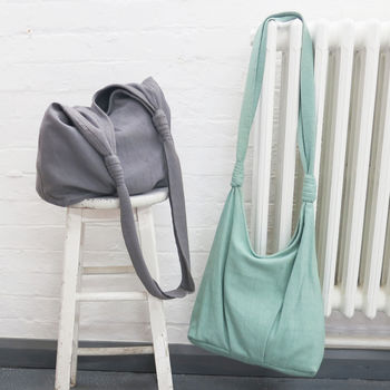 Fairtrade Cotton Shoulder Bag With Zip Closure