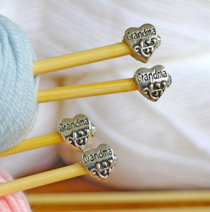 Grandma Knitting Needles Gift Set Of Two Pairs