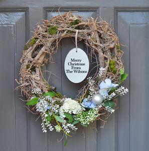 Personalised Christmas Wreath - new in home