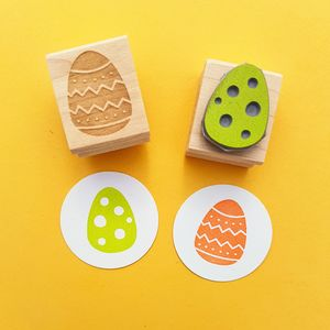 Easter Egg Rubber Stamp