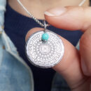 'Beautiful Soul' Personalised Silver Mandala Necklace