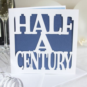 Half A Century Birthday Card - birthday cards