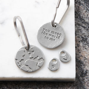 'You Mean The World To Me' Keyring - gifts for her