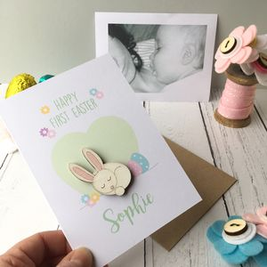Personalised Baby's First Easter Card