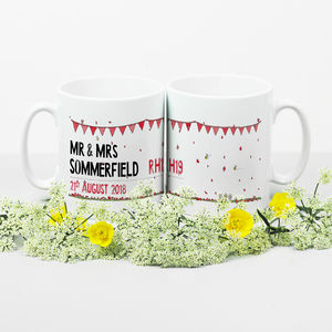 Personalised Street Sign Wedding Mugs