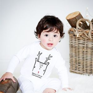 First Christmas Nordic Deer Babygrow - clothing