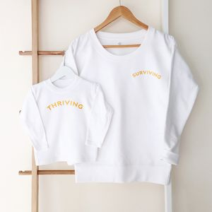 'Surviving And Thriving' Mum And Me Sweater Set
