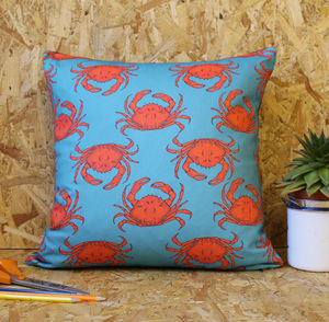 Crab Cushion - bedroom