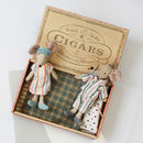 Vintage Style Mum And Dad Cigar Box Mice