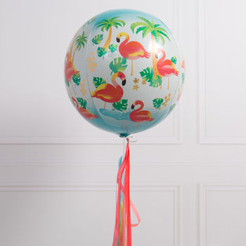 Flamingo Inflated Orb Balloon