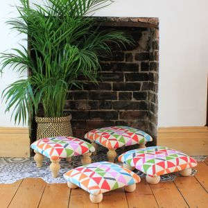 Colourful Print Footstool