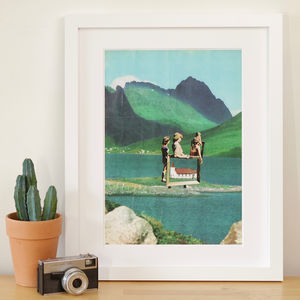 'Folksy' Retro Collage Art Print - posters & prints