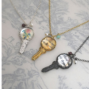 Victorian Mirror Necklace With Parsonalised Message - necklaces & pendants