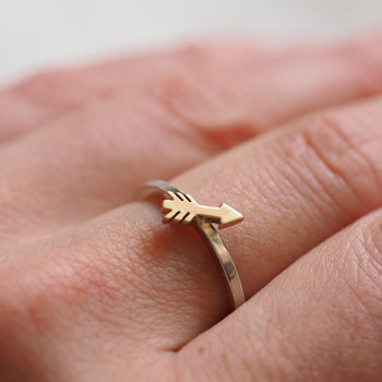 Tiny Cupid Arrow Ring Handmade Silver Or Gold