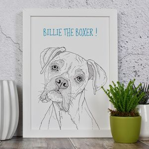 Boxer Dog Personalised Print