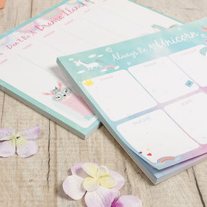 Llama And Unicorn Colourful Planner Selection