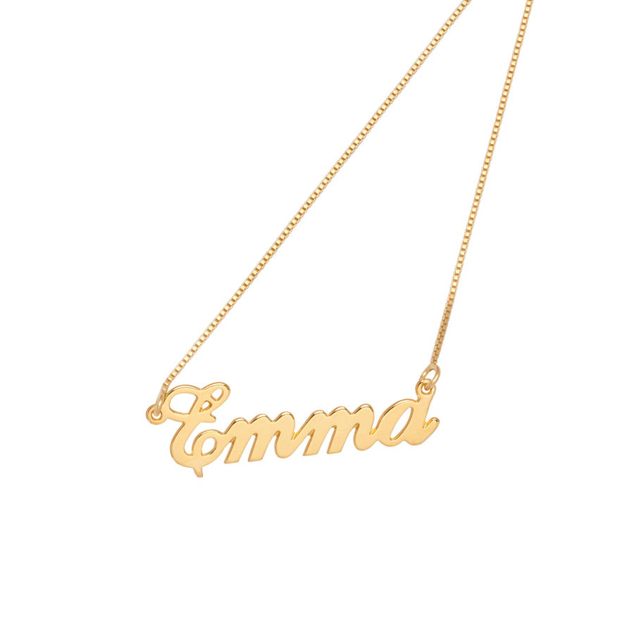 personalised handmade name necklace by anna lou of london ...