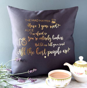 Alice In Wonderland Cushion - bedroom