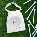 'Golf Ball' Personalised Bag Of Golf Tees