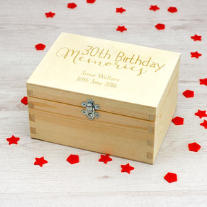 Personalised 30th Birthday Keepsake Box - storage & organisers