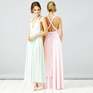 Multi Way Maxi Length Bridesmaid Dress - bridesmaid fashion