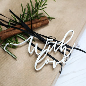 'With Love' Gift Tags - christmas labels & tags