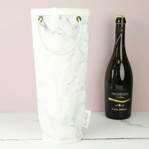 Marble Effect Bottle Bag - christmas sale