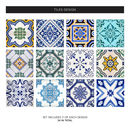 Traditional Spanish Tile Stickers Set Pack Of 24