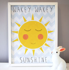 Sunshine Nursery Print - pictures & prints for children