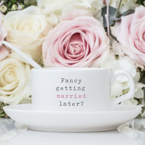 Wedding Cup And Saucer - gifts for the bride