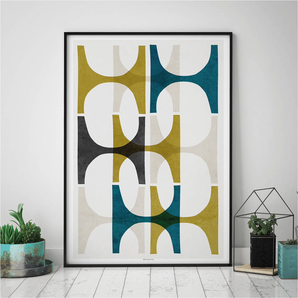abstract geometric wall art print by bronagh kennedy art prints. Black Bedroom Furniture Sets. Home Design Ideas