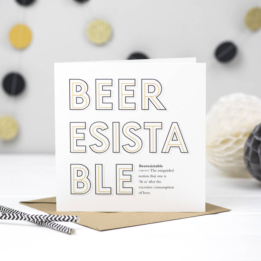 'Beeresistable' Beer Card