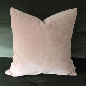 Nude Pink Velvet Cushion